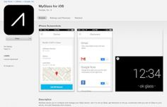 MyGlass companion app for Google Glass briefly appears in iOS App Store