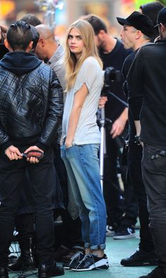 Cara Delevingne!!! Love this menswear style! | @andwhatelse