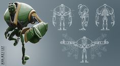 Character Design by Robert Zimmermann, via Behance
