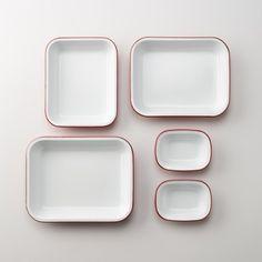 Enamelware Bake Set $108.00 http://www.schoolhouseelectric.com/