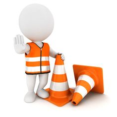 Illustration about white people stop sign with traffic cones and wearing a safety vest, isolated white background, image. Illustration of safety, forbidden, human - 24826500 Screen Beans, Powerpoint Animation, Sculpture Lessons, 3d Man, School Clipart, People Icon, White People, Stick Figures, Guy Pictures