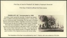 Early Pictures of Pinebluff N.C. - Google Search
