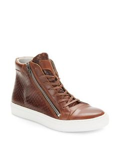Kenneth Cole Reaction Good Vibes Lace-Up Sneakers Men's Cognac Brown 1