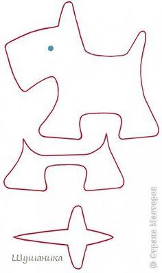 Игрушка День рождения Шитьё Радужный щенок  Скотч-терьер Бусинки Ленты Ткань фото 6