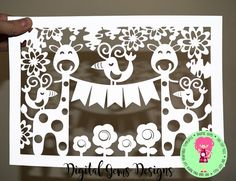 This listing is for a paper cut design that you can cut on your Cricut Explore or Silhouette Cameo machine, or you can print out the design and hand cut it yourself. This is a DIGITAL DOWNLOAD. The design will cut exactly as shown in the images with FIVE BUNTING PIECES. The bunting pieces will be blank for you to personalise yourself  Any backgrounds, logos, framed or cut images are for illustration purposes only.  Included in this digital download are the following files:  *SVG cutting file…