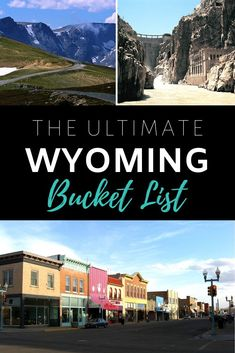 50 Incredible Things To See & Do In Wyoming. The ultimate bucket list for your trip to the Cowboy State! Usa Travel Guide, Travel Usa, Wyoming Vacation, Yellowstone Vacation, Cool Places To Visit, Places To Travel, Jackson Hole Wy, Road Trip Destinations, Road Trip Usa