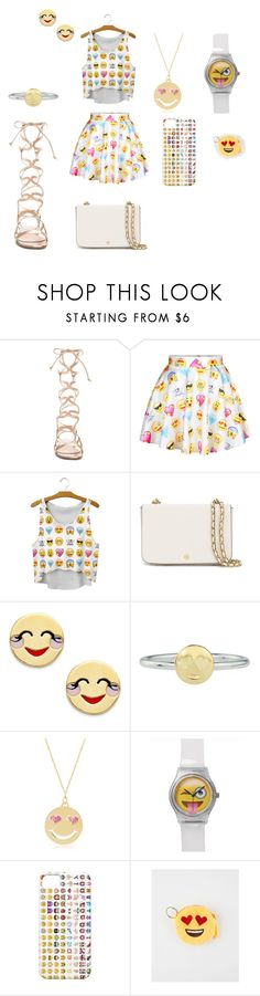 """""""#iLoveEmoji"""" by keke2004 on Polyvore featuring beauty, Gianvito Rossi, Tory Burch, Kate Spade, Rock 'N Rose and Gab+Cos Designs"""