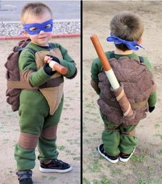 Ninja Turtle Costume, our little pearson boys will all for sure be this at least once, love it!
