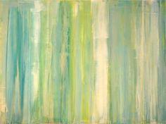 """Emerald City 2011 Venetian plaster and acrylics on wood panel. 16"""" x 20"""""""