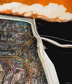 Motorway/City by Robert Ellis, Auckland Art Gallery, New Zealand Auckland Art Gallery, A Level Art, Level 3, New Zealand Art, Nz Art, Exam Papers, Ap Studio Art, Maori Art, Abstract Painters