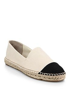 Tory Burch Colorblocked Canvas Espadrilles. Cute and comfortable.