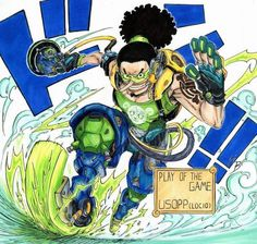 One Piece x Overwatch crossover. Usopp as Lucio (personally think he should have Hanzo cuz they're both snipers but Lucio is good Anime One Piece, One Piece Fanart, One Piece Crossover, Anime Manga, Anime Art, Manga Girl, Anime Girls, One Piece Games, Anime Comics
