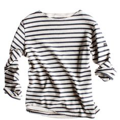 Navy and White Striped Long Sleeve Shirt 1ff322c03