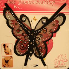 Butterfly bra straps, women bras, decorative bra straps only $1.25 ea.