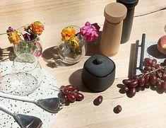 Academy Salt & Pepper Mill Black Furniture Making, Modern Furniture, Furniture Design, Dynamic Design, Candle Holders, Salt, Stuffed Peppers, Candles, How To Make