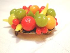 Vintage Brooch or Necklace Large Fruit Salad Yellow by BagsnBling, $24.50