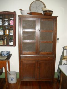 Old Piesafe Cabinet That Provides Great Storage For A Primitive Kitchen