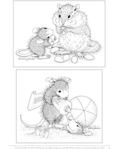 House-Mouse Designs® A House-Mouse® Colouring Book - UK Edition - Volume 1 Cute Coloring Pages, Colouring Pics, Adult Coloring Pages, Coloring Books, Baby Mouse, Cute Mouse, Digital Stamps Free, House Mouse Stamps, Mouse Pictures