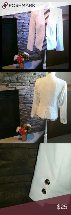 **Chic White Blazer** Fitted Blazer. New with tags. Forever 21 Jackets & Coats