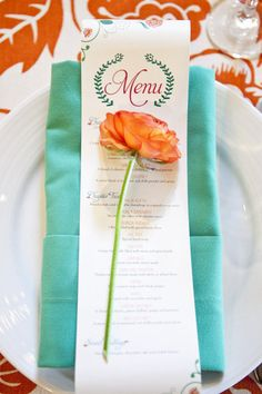 Teal and orange. Photography by llanesweddings.com, Wedding Design   Planning by amorologyweddings.com, Floral Design by twiggbotanicals.com