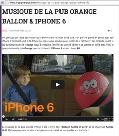 Music on Apple /Orange advertisement by Annika Grill from Annika And The Forest