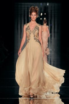 nude color gown