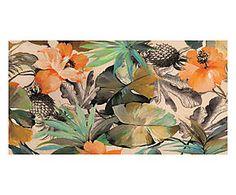 Stampa fine art su canvas con telaio in legno Wild Ibiscus - 70x35x4 cm