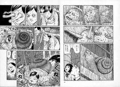 junji ito uzumaki snail slug manga morph japan japanese