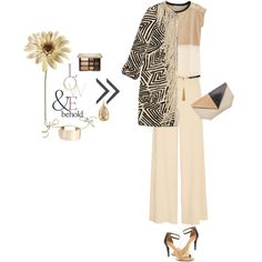 A Neutral Spring by joanna46-1 on Polyvore featuring Tsunoda Paris, Bazar Deluxe, STELLA McCARTNEY, Calvin Klein, Roland Mouret, Valentino, Larkspur & Hawk, Yves Saint Laurent, Too Faced Cosmetics and ASOS