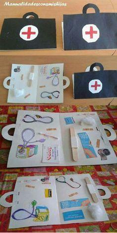 Doctor craft and activities for preschool Craft Activities, Preschool Crafts, Preschool Learning, Toddler Activities, Teaching, Science Crafts, Super Hero Activities, Space Activities, Preschool Themes