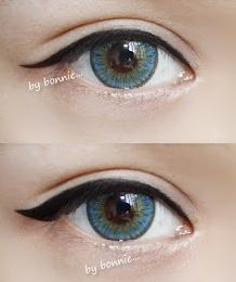 NEO Shimmer Aqua circle lens gives your eyes a lovely tint of turquoise! http://www.eyecandys.com/neo-shimmer-aqua/