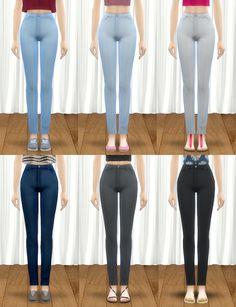 Pickypikachu: Maxis Match High-Waist Denim Skinny Jeans