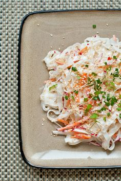 Cold Rice Noodle Salad with Creamy Tahini Dressing | Make and Takes
