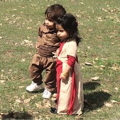 Adorable Kurdish Children in traditional Clothing.