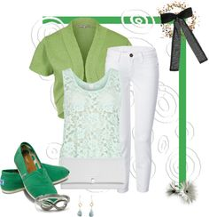 """""""the color green"""" by cherry1x ❤ liked on Polyvore"""