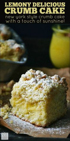 As the dreary days of winter start to wind down, I always find myself reaching for lemons as if to will springtime into our home with pastel colored baked goods such as my  Lemony Delicious Crumb Cake....