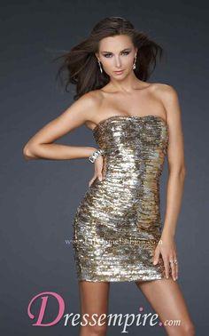 Gold Dress #2dayslook #susan257892  #GoldDress  www.2dayslook.com