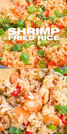 Shrimp Fried Rice Recipe - Easy simple homemade fried rice with shrimp (prawns) prepared from scratch within minutes. I show you how to enhances this recipe with more ingredients and how to use leftover plain white rice and veggies to go zero waste. The perfect weeknight Asian dinner meal! www.MasalaHerb.om Healthy Rice Recipes, White Rice Recipes, Lunch Recipes, Cooked Rice Recipes, Healthy Fried Rice, Healthy Pastas, Vegetarian Recipes, Easy Casserole Recipes, Easy Pasta Recipes