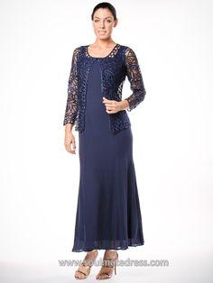 1e183655ef C12505 Crochet Jacket   Solid Dress Set