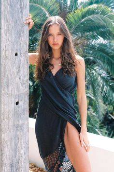 Real jungle > Concrete jungle.  Do you agree? Comment below!!  Item: Palma Charcoal Cover-Up   #boholuxe #bohochic #styleinfluencer #tonaldressing #resortfashion #whatshewore #balistyles #boutiqueshopping #blackdress #daytonightlook #ibizafashion #luxuryresortwear #hippiefashion #summercollection #beachbabe #travelmore #ethicallymade #summerstyle #bohosummer #summeroutfit #howyouglow #bohoinspired #vacationstyle #summerdress #bohocollection #boholook #bohodress #tonaloutfit #bohodresses Ibiza Fashion, Summer Outfits, Summer Dresses, Swimsuit Cover Ups, Boho Look, V Cuts, Instagram Models, Hippie Style, Boho Dress