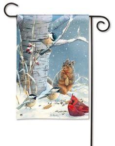 Seasonal Flags For Winter   Winter Garden Flags