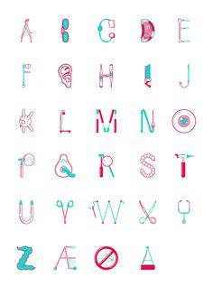 A fantastic medical illustrative type set by Norwegian graphic designer/illustrator, Daniel Brokstad.