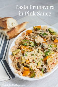 Pasta Primavera in Pink Sauce by The Lilypad Cottage