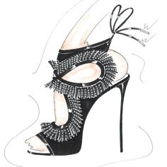 Back To The Studio To Do Some Sketching. -- @aquazzura #takeover #fashion #shoes #shopbop By Shopbop