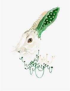 ▶▶▶ Rabbit // threaded illustration