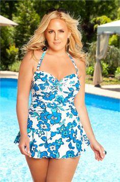 878eb3b87df Women s Plus Size Swimwear - Always For Me Chic Prints Salinas Twist Front  Bandeau -  44.50