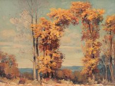 Stefan Popescu Autumn Landscape - Handmade Oil Painting Reproduction on Canvas Great Paintings, Old Paintings, Canvas Painting Landscape, Canvas Online, Types Of Painting, Oil Painting Reproductions, Pretty Pictures, Beautiful Landscapes, Drawings