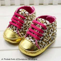 Pink & Leopard Baby Shoes