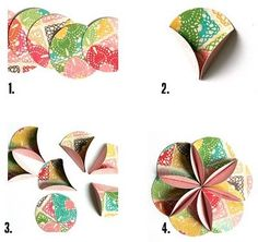 Folded circle punch flower flores de papel pinterest circle most popular tags for this image include origami instructions and easy round paper flower mightylinksfo