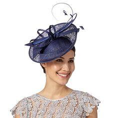 J by Jasper Conran - Designer navy dipped crown saucer fascinator Fascinator Hats, Fascinators, Headpieces, J By Jasper Conran, Dapper Suits, Hats For Women, Clothes For Women, Bow Design, Occasion Wear